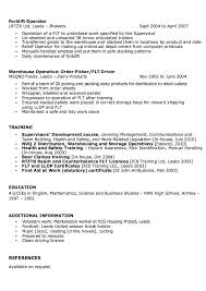 Warehouse Supervisor Resume Simple Forklift Driver Resume New Sample Warehouse Supervisor Resume