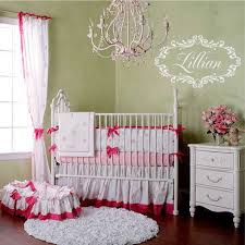 Shabby Chic Vinyl Wall Decal - Baby Nursery Name Wall Decal Heart Frame for  Girl Baby