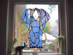 stained glass elephant stained glass elephant night light