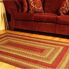 ihf home decor braided rug rectangle area floor carpet 20 x 30 country style