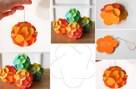 Christmas Paper Balls Decoration