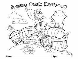 Children love the idea of toy trains? Children S Coloring Page Irvine Park Railroad