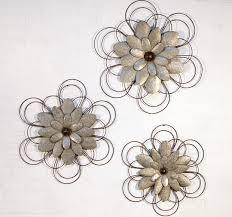 wall art flowers metal