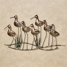 metal wall art sea birds