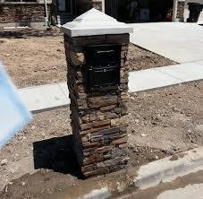 stone mailbox designs. Locking Cultured Stone Mailbox Designs
