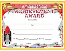 Achievement Awards Certificates Templates Printable Science Achievement Awards Certificates