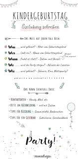 Text Ideen Für Die Einladung Zum Kindergeburtstag Minidrops