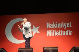 Mehmet Ağar 'demokrasi nöbeti'nde konuşma yaptı!