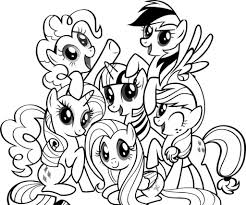 Small Picture Coloring Page Rainbow Dash
