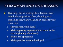 a few organizational patterns for essays these are not rules  2 strawman