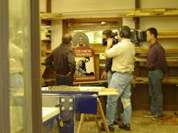 new yankee workshop location. the new yankee workshop films an episode at lincoln sign company location a