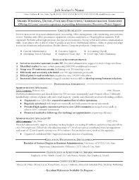 Executive Assistant Resume Objective administrative assistant resume objective luxsosme 22