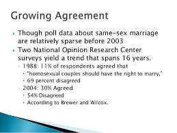 same sex marriage 8  though poll data about same sex marriage