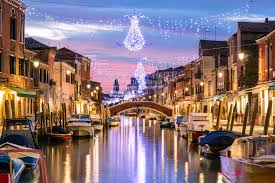 Christmas Lights In Venice Matteo Colombo Travel Photography Canal At Sunset With