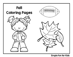 An ultimate selection of autumn coloring pages with beautiful motives: Fall Coloring Pages Simple Fun For Kids