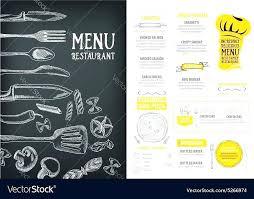 Menu Templates Free Download Word Food Template Cafe Ai