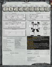 warhammer character sheet valmor scallius deathwatch character sheet warhammer 40 000 fanon