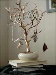 tree jewelry holder jewelry holder organizer tree gold and cream painted tabletop branch necklace hanger bedroom tree jewelry holder