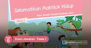 Kunci jawaban tema 8 kelas 2 sd/mi subtema 1 halaman 4, 5, 6, 7, 11, 15, 16, 17, 18, 19, 21, 22, 25, dan 26 buku tematik aturan keselamatan di rumah. Kunci Jawaban Buku Tematik Kelas 6 Tema 1 Selamatkan Makhluk Hidup Ruang Edukasi