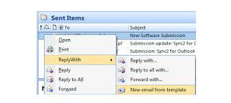 open outlook template use microsoft outlook reply with template add in to create your own