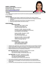 standard form of resumes