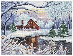 <b>Nitex Набор для вышивания</b> Зимний день 30 х 40 см (0264 ...