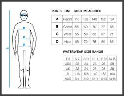 Arena Swim Size Chart Sizing Charts Arena Swimwear