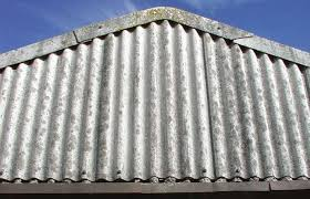 dealing with asbestos corrugated tin roofing