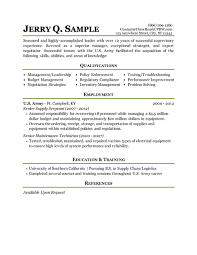 Example Of Military Resume 69 Images Military Resume Examples