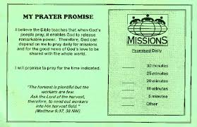 Sample: Faith Promise Commitment Or Pledge Card