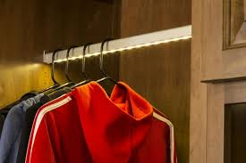 image of led closet rod fixtures