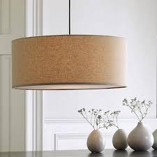 westelm lighting. Above: Short Drum Pendant Light In Natural Linen; 24 Inches Diameter,  $149 At West Elm. Westelm Lighting D