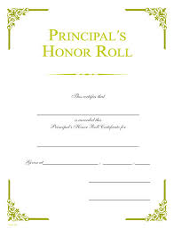 Principal Award Certificate Principals Honor Roll Gold Foil Certificate