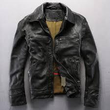 vintage genuine leather jacket men black leather motorcycle jacket men s real cowskin leather coat for men