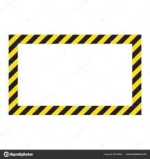 Black And Yellow Stripes Border Warning Striped Frame Warning Careful Potential Danger Yellow Black