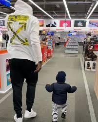 Romelu Lukaku and his son Romeo Lukaku