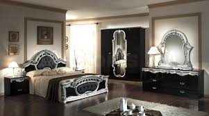 Casablanca Italian Classic Black And Silver Bedroom Set Bed 2