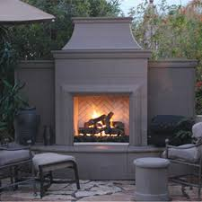american fyre designs grand petite cordova outdoor gas fireplace lifestyle