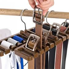 belt storage rack hanging tie shelf closet shelves organizer multifunctional wardrobe space saver scarf rack