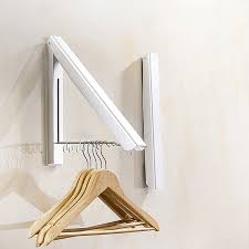 Folding Coat Racks Simple 32pc Foldable Wall Mount Clothes Hanger Space Aluminum Towel Drying