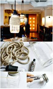 easy diy rope wrapped mason jar lights mason jar crafts