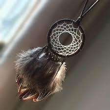 Dream Catcher For Car Mirror Fascinating Bohemian Dream Catcher With Feathers Car Mirror Charm Ornaments