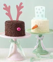 Deary Snowy Combo Christmas Cakes The Velvet Cake Co