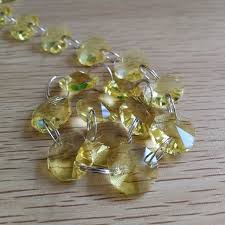 5meters lt yellow glass garland chains 14mm beads crystal garland strands for wedding decoration chandelier