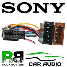 sony mdx c sony mex series car radio stereo 16 pin wiring harness loom iso connector lead