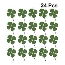 Healifty <b>24pcs Dried</b> Four-Leaf Clover Natural <b>Real Pressed Dried</b> ...