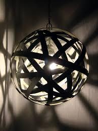 custom made orbits urban light recycled wine barrel metal hoops