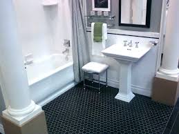 black hexagon tile bathroom black hex tile octagon floor tile bathrooms hex bathroom floor tile home