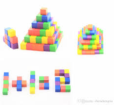 Wooden Game Cubes Magnificent 32 Ccx Color Wood Cubic Brick Puzzle Game Piece Pack Of With