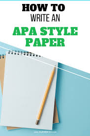 How To Write An Apa Style Paper Cleverism